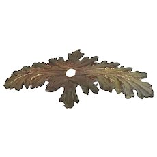 Antique Bronze Decorative Hardware Set of 5 Leaf Leaves 7 inch by 3.5 inch