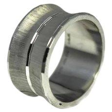Vintage 14k White Gold Wedding Band Ring