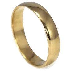 14k Yellow Gold Wedding Band Unisex Vintage Ring