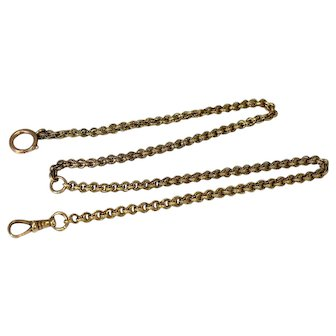 Antique 14k Gold Pocket Watch Chain Fancy Link over 12g