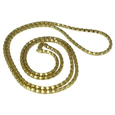 14k Solid Gold Box Link Chain 31 inch 3mm 17.7 grams