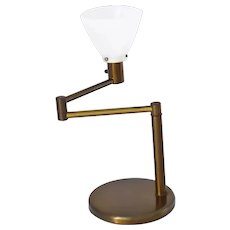 MCM Walter Von Nessen Swing Arm Table Lamp