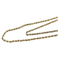 14k Gold Rope Chain 18 Inch Length 2mm Wide
