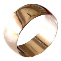 Vintage 14k Rose Gold Wide Wedding Band 9mm, Rose Gold Thumb Ring