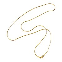 """14k Gold Snake Chain 20"""" Fluid Necklace Perfect for Pendants or Cross"""