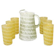 MCM Drinkware Pitcher Tumbler Set Barware or Iced Tea Lemonade ColorCraft