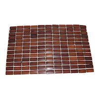 Mid Century Modern Teak Slat Placemats Set of Six