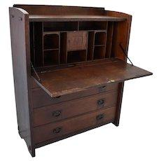 Antique Stickley Drop Front Desk 729 Arts and Crafts Mission, Stickley Casement Piece Fall Front Desk #729