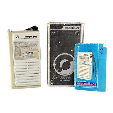Soviet Union Cold War Era Transistor Radio, Nevskij 402 Radio, Hebckuu 402 Radio