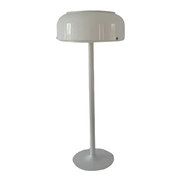 Space Age 70s White Floor Lamp Knubbling by Anders Pehrson Sweden 1970s MCM Decor
