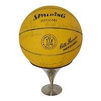 1966 - 1967 NY Knicks Autographed Basketball Team Coach Trainer