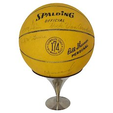 1966 - 1967 NY Knicks Autographed Basketball Team Coach Trainer