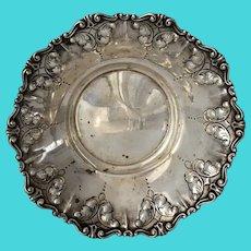 Repousse Feather Plume Italian Silver Bowl Stancampiano Eugenio c1950s Palermo