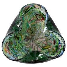 Murano Art Glass Bowl Dino Martens for Aureliano Toso Millefiori Tutti Frutti Design