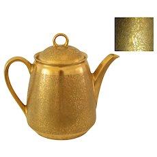 Wheeling Decorating 22k Gold Embossed Teapot Doves Roses Daises, Gold Teapot, Gold Decor