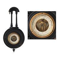 Antique Victorian Eastlake Swedish Barometer Weather Instrument Adolf Nyman Vesteras