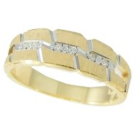 DIAMOND Wedding Band Ring14k Gold
