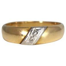 14k Gold Diamond Accent Band Wedding Ring