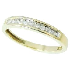 DIAMOND Wedding Band Ring 10k Gold .20 ctw