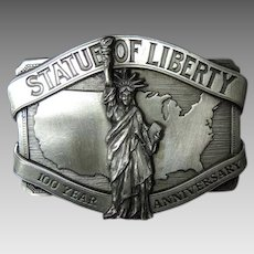 NYC Statue of Liberty Belt BUCKLE Solid PEWTER