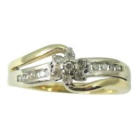 DIAMOND Promise Ring Engagement Ring 10k Gold .75 ctw