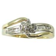 DIAMOND Promise Ring Engagement Ring 10k Gold .75 ctw