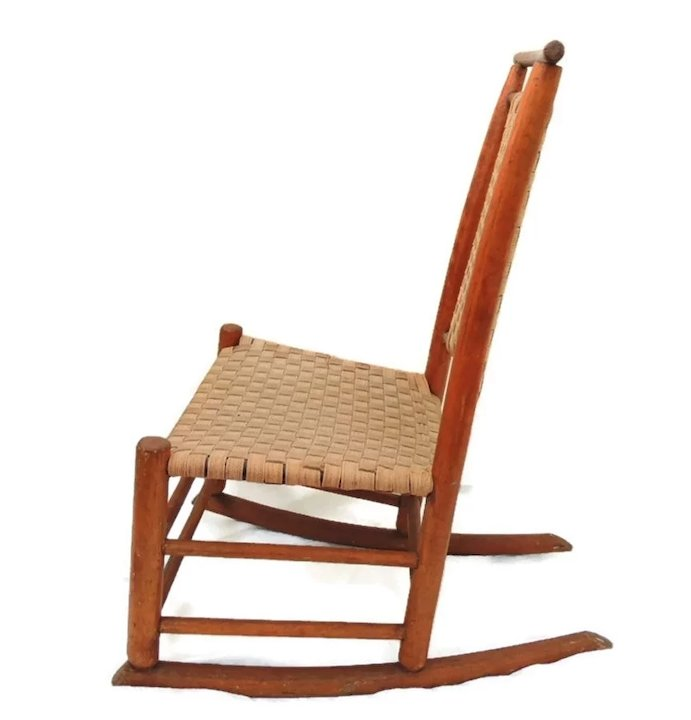Antique Child's Shaker Rocking Chair c1890 Country Cotaage - Antique Child's Shaker Rocking Chair C1890 Country Cotaage : Premier