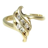 Diamond Accent Ring Promise Ring 14k Gold  .20 ct