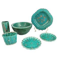 Gustavsberg Argenta Sweden Art Pottery Collection 6 pcs EXCELLENT c1930s