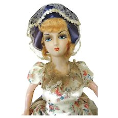 French Boudoir Doll in Victorian Dress 24 inch