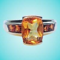 Citrine Mandarin Garnet Estate 14K November Birthstone Ring
