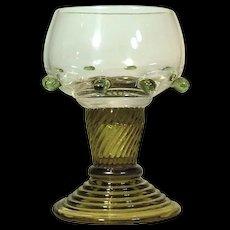 Bohemian Moser Wine Glass Goblet VINTAGE