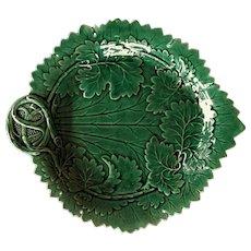 """VERY RARE c.1866 Davenport Majolica Bowl Plate 9 3/4"""" England Gorgeous"""