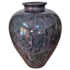 """19th c. 9 lb. Jade Vase Chinese Hand Carved 10""""x7"""""""