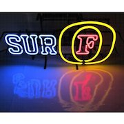 Vintage Foster's Beer Neon Sign SURF w/Dimmer Authentic Brewery