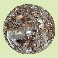 Rare LIMITED EDITION Waterford Crystal 1993 Florida Marlins Inaugural Baseball Owners Edition Paperweight