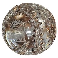 LIMITED EDITION Waterford Crystal 1993 Florida Marlins Inaugural Baseball Owners Edition Paperweight