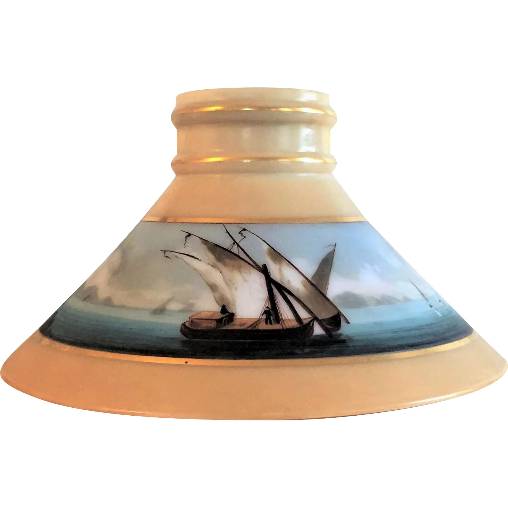 Nautical boston sandwich glass lamp shade 1870s glass lovers nautical boston sandwich glass lamp shade 1870s glass lovers gallery ruby lane mozeypictures Choice Image