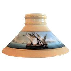 NAUTICAL Boston Sandwich Glass Lamp Shade 1870's