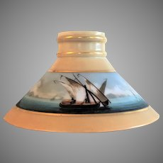 NAUTICAL Boston Sandwich Glass Lamp Shade 1870's
