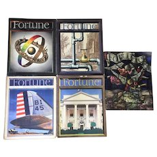 1940 Fortune Magazine FIVE Issues