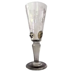 "11""x4"" Bohemian Engraved Chalice Goblet Pokal PASSING CUP"