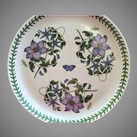 """13 1/2""""  Portmeirion Botanic Garden Round Platter  CLEMATIS"""