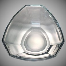 Tiffany and Co. Bowl Crystal  Six Panel Pattern