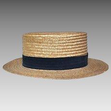 Italian Straw Boater Grosgrain Hat Band in Black 7d872c3104c0