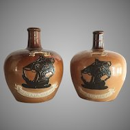 TWO Royal Doulton Lambert Jug Highland Whiskey c.1900