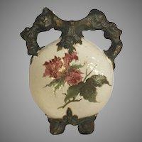 Rare Alfred Stellmacher Pre Amphora Turn TEPLITZ Bohemian Pillow Vase 1860-1890