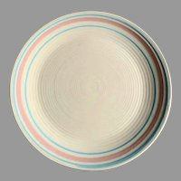 "RARE 12"" McCoy Nelson Platter Charger  Pink and Blue 1930's"
