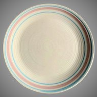 "RARE 12"" McCoy Nelson Chop Plate Platter Charger  Pink and Blue 1930's"
