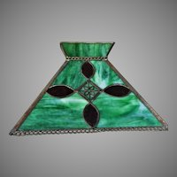 1920's Slag Leaded Panel Lamp  Shade Mission Style Copper